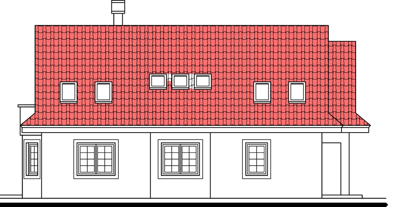 Pohľad 2. - Zaujímavý projekt rodinného domu.