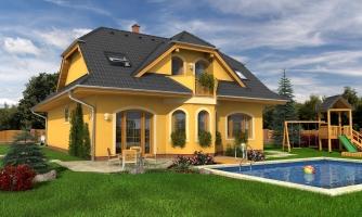 Rodinný dom s obytným podkrovím. Možnosť realizovať ako dvojgeneračný rodinný dom.