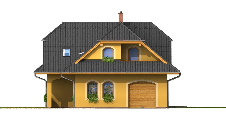 Pohľad 1. - Väčší dom s obytným podkrovím