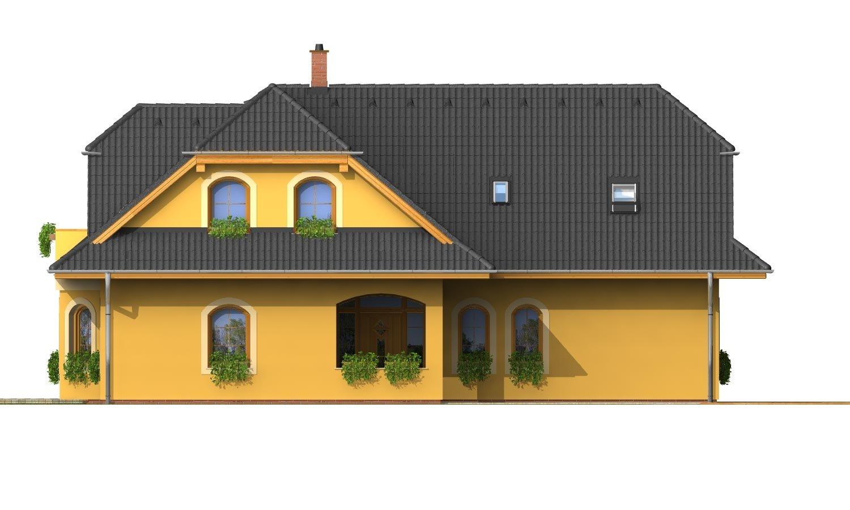 Pohľad 2. - Väčší dom s obytným podkrovím