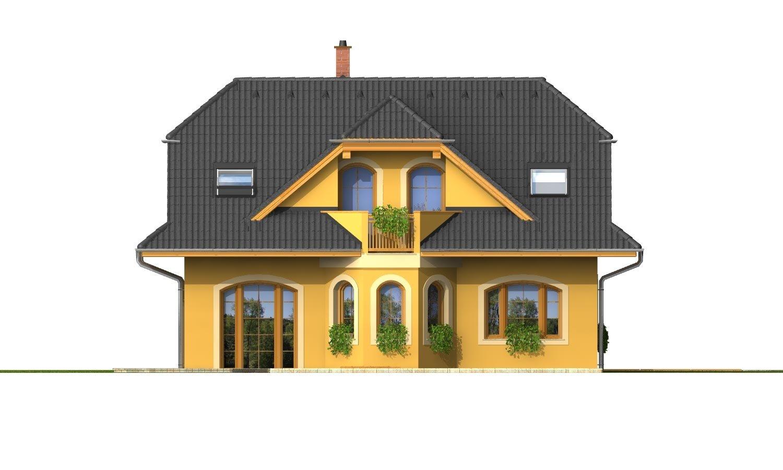 Pohľad 3. - Väčší dom s obytným podkrovím