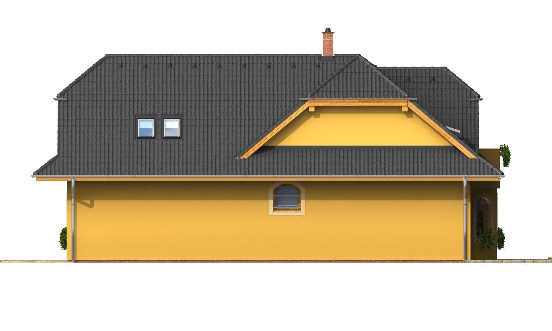 Pohľad 4. - Väčší dom s obytným podkrovím