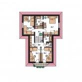 Pôdorys poschodia - ELEGANT 122