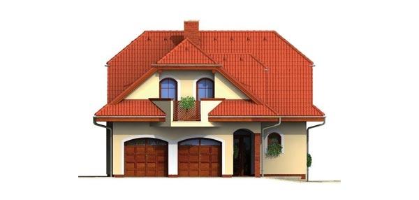 Pohľad 1. - Veľký rodinný dom so suterénom