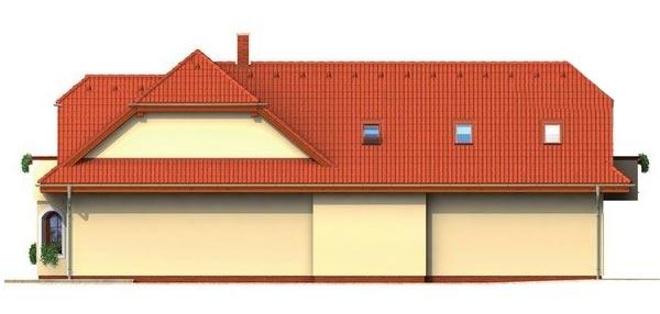 Pohľad 2. - Veľký rodinný dom so suterénom
