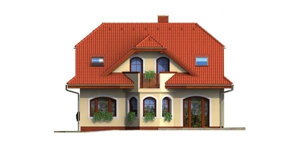 Pohľad 3. - Veľký rodinný dom so suterénom
