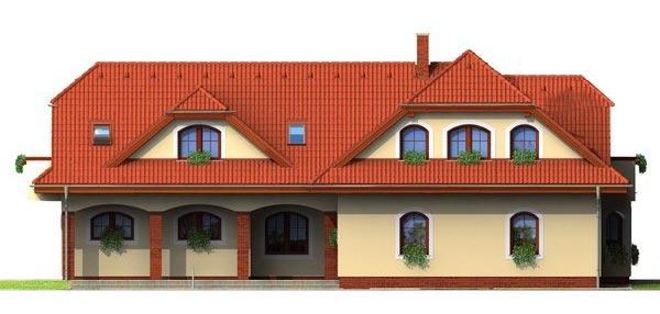 Pohľad 4. - Veľký rodinný dom so suterénom