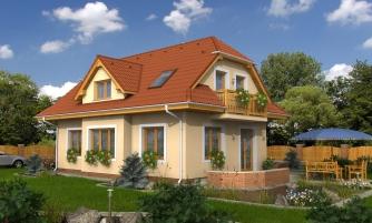 4-izbový domček vhodný na úzky pozemok