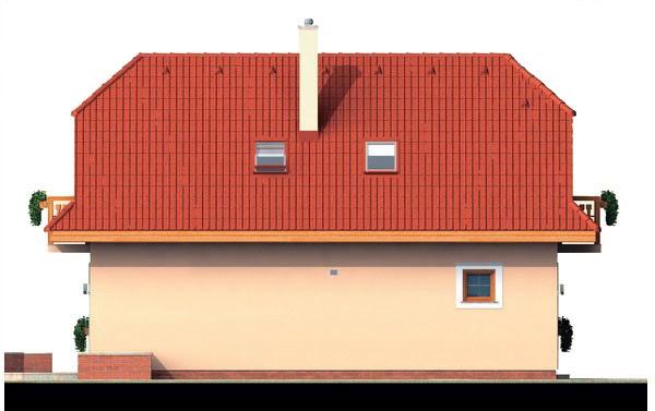 Pohľad 4. - 4-izbový domček vhodný na úzky pozemok