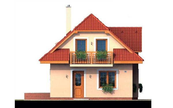 Pohľad 1. - 4-izbový domček vhodný na úzky pozemok