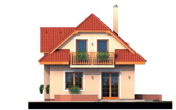 Pohľad 3. - 4-izbový domček vhodný na úzky pozemok