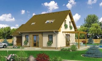 Malý rodinný dom s garážou.