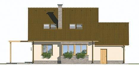 Pohľad 3. - Malý rodinný dom s garážou