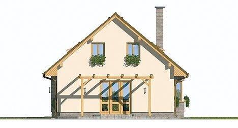 Pohľad 4. - Malý rodinný dom s garážou