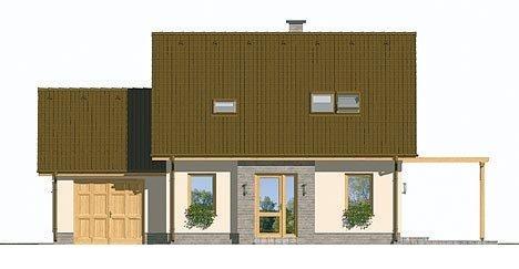 Pohľad 1. - Malý rodinný dom s garážou