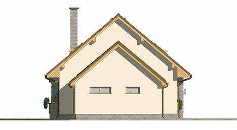 Pohľad 2. - Malý rodinný dom s garážou