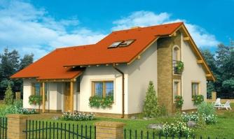 Čiastočne podkrovný menší dom