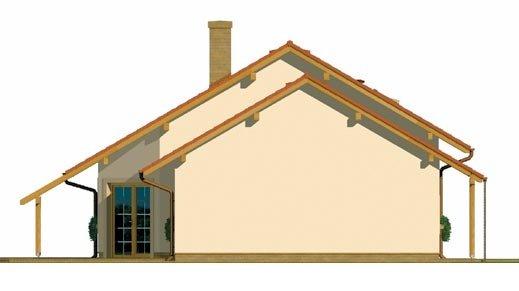 Pohľad 2. - Čiastočne podkrovný menší dom