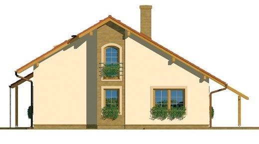 Pohľad 4. - Čiastočne podkrovný menší dom