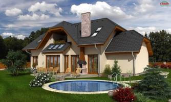 Väčší dom s polvalbovou strechou
