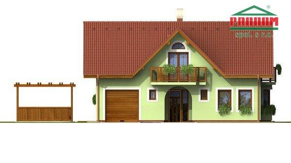 Pohľad 1. - Dom so sedlovou strechou a vikiermi