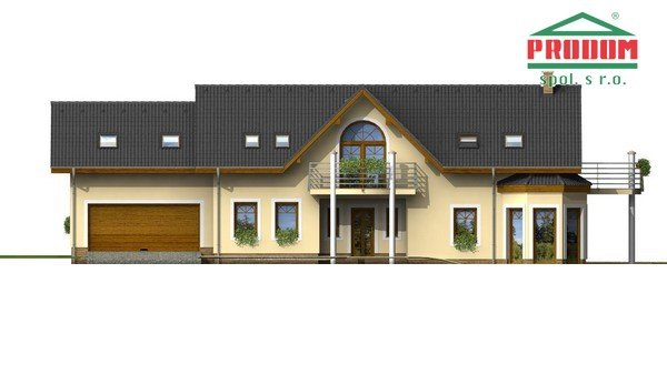 Pohľad 1. - Veľký exkluzívny rodinný dom