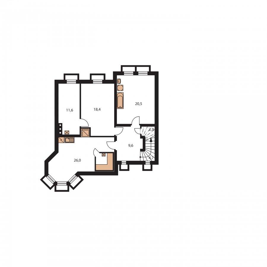 Pôdorys Suterénu - Veľký exkluzívny rodinný dom