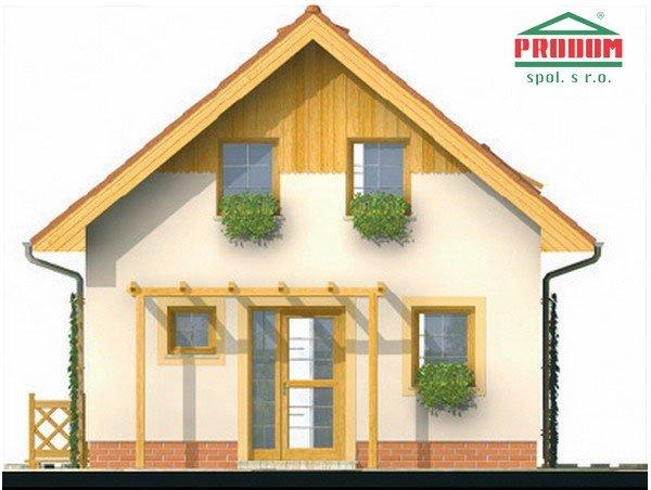 Pohľad 1. - Malý ekonomický projekt domu