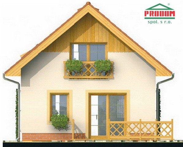 Pohľad 3. - Malý ekonomický projekt domu