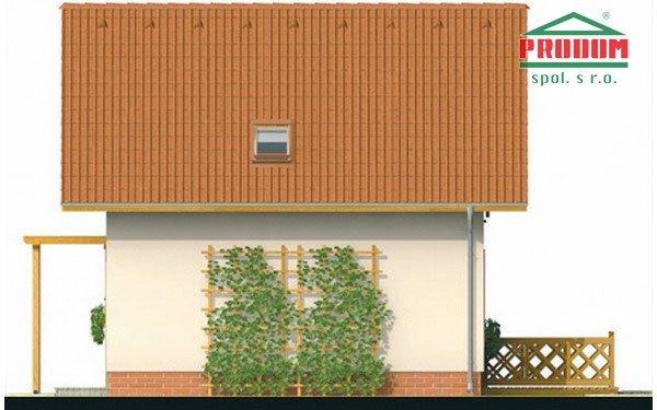Pohľad 4. - Malý ekonomický projekt domu