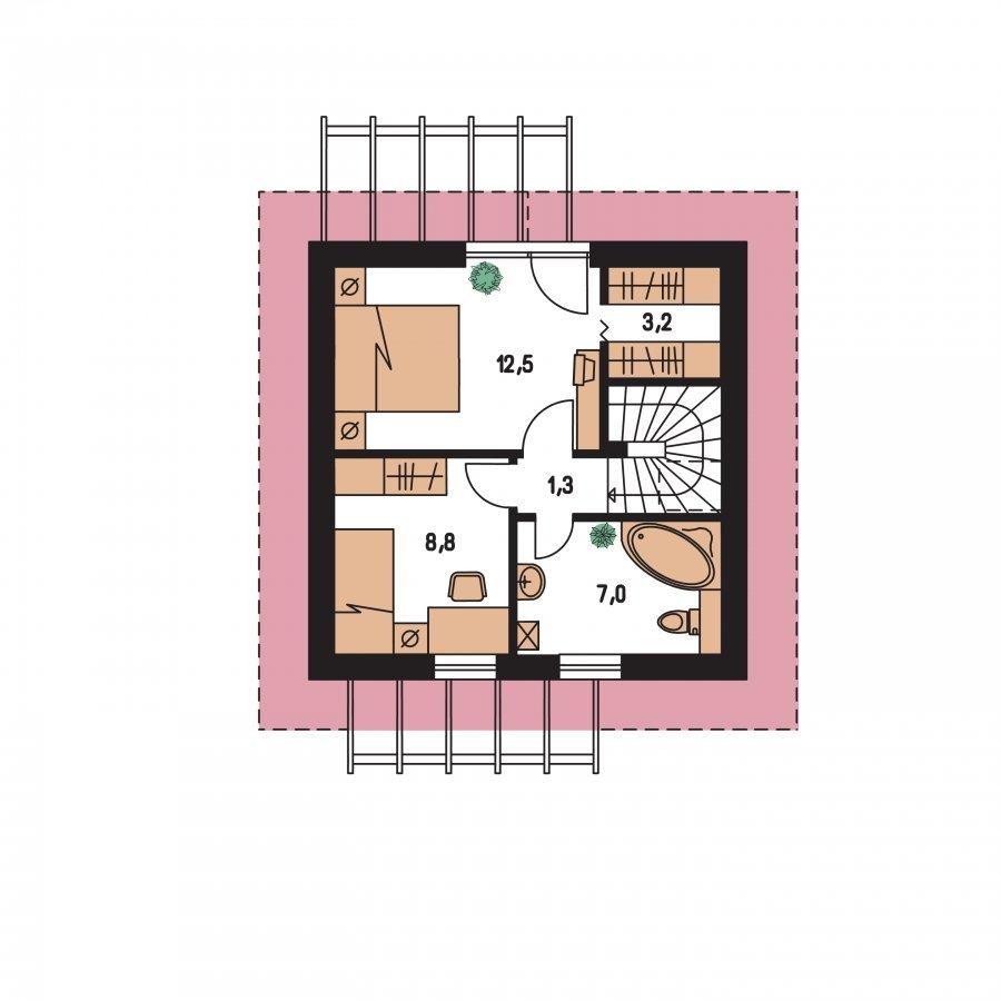 Pôdorys Poschodia - Malý ekonomický projekt domu