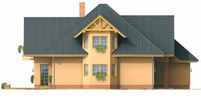 Pohľad 2. - Rodinný dom s obytným podkrovím