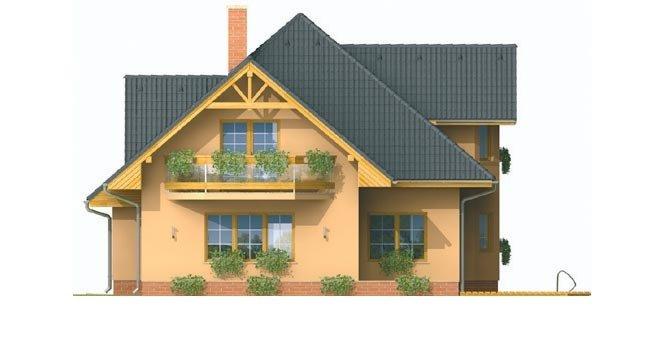 Pohľad 3. - Rodinný dom s obytným podkrovím
