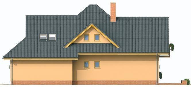 Pohľad 4. - Rodinný dom s obytným podkrovím