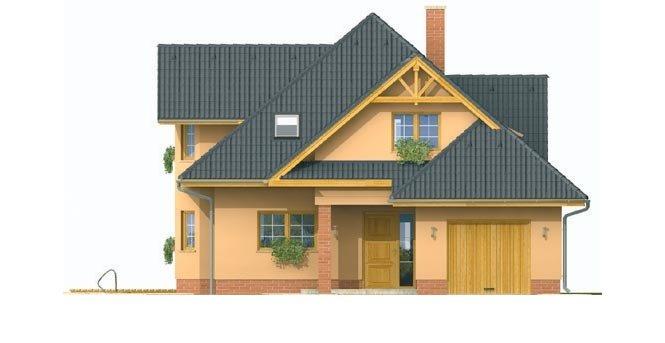 Pohľad 1. - Rodinný dom s obytným podkrovím
