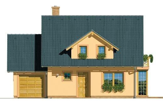 Pohľad 1. - Dom s garážou a izbou na prízemí. Vhodný aj ako dvojdom.