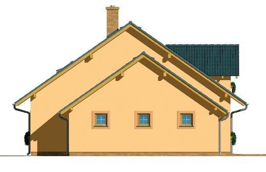 Pohľad 2. - Dom s garážou a izbou na prízemí. Vhodný aj ako dvojdom.