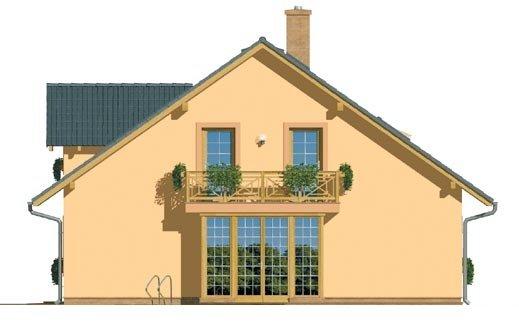 Pohľad 4. - Dom s garážou a izbou na prízemí. Vhodný aj ako dvojdom.