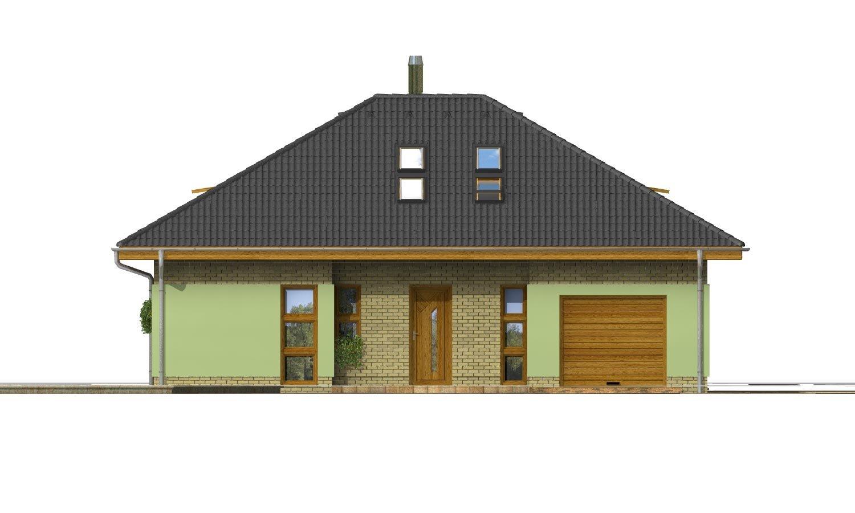 Pohľad 1. - Dom v tvar do U, presvetlený strešnými oknami.