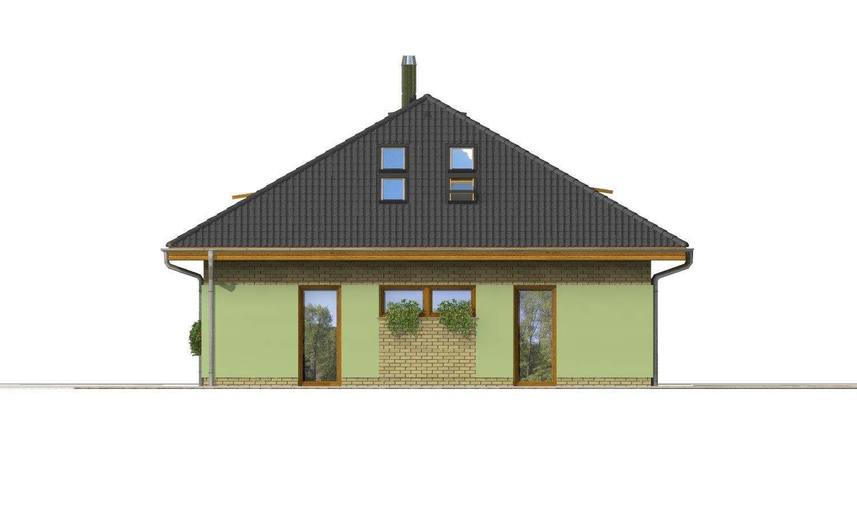 Pohľad 2. - Dom v tvar do U, presvetlený strešnými oknami.