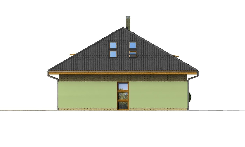 Pohľad 4. - Dom v tvar do U, presvetlený strešnými oknami.