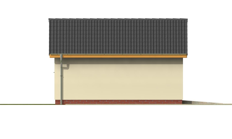 Pohľad 2. - Samostatne stojaca garáž pre jedno auto so sedlovou strechou