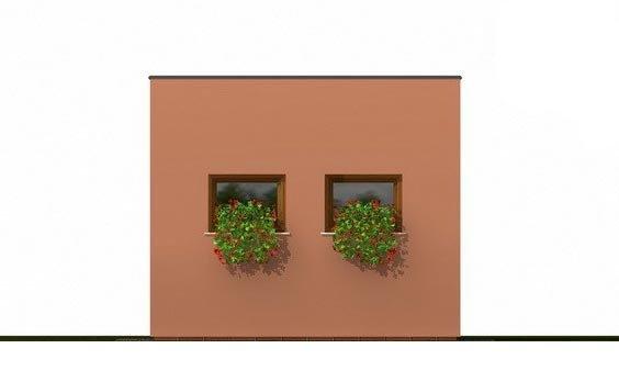 Pohľad 3. - Projekt jednogaráže samostatne stojacej s plochou strechou