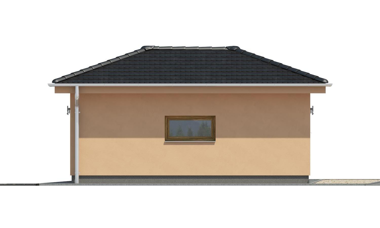Pohľad 2. - Projekt garáže s valbovou strechou, samostatne stojaca