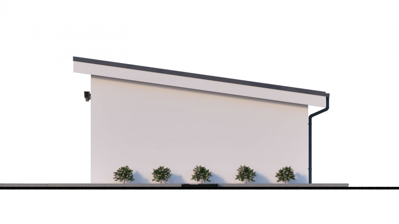 Pohľad 2. - Projekt samostatne stojacej garáže s pultovou strechou