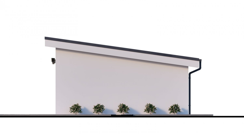Pohľad 2. - Dvojgaráž s pultovou strechou, samostatne stojaca