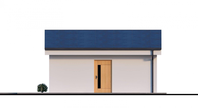 Pohľad 3. - Dvojgaráž s pultovou strechou, samostatne stojaca
