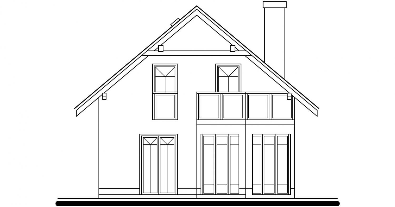 Pohľad 3. - Klasický dom so suterénom a s podkrovím.