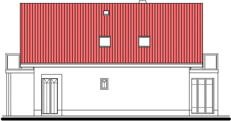 Pohľad 4. - Klasický dom so suterénom a s podkrovím.