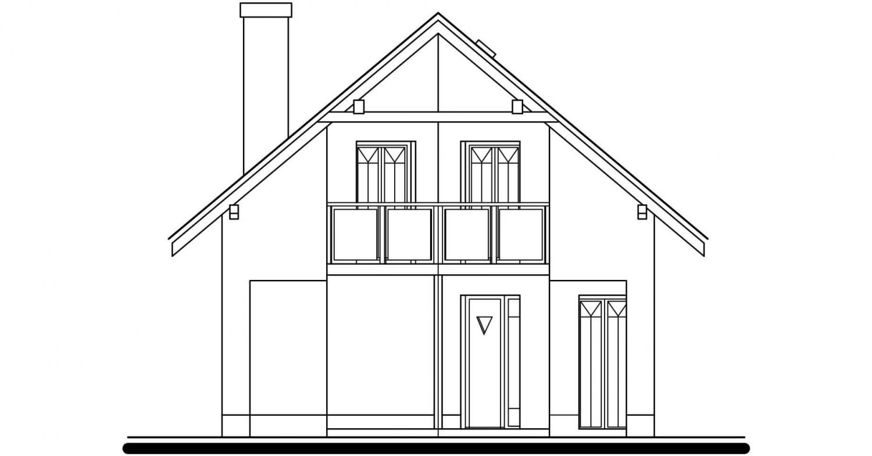 Pohľad 1. - Klasický dom so suterénom a s podkrovím.